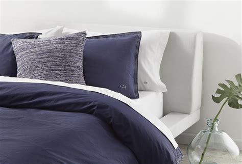lacoste home decor lacoste home washed solids collection bedding sets