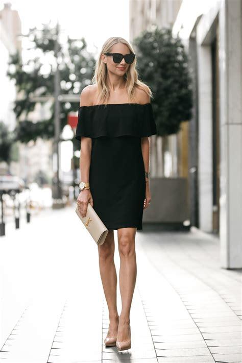Henny Dress 100 the shoulder black dress fashion jackson