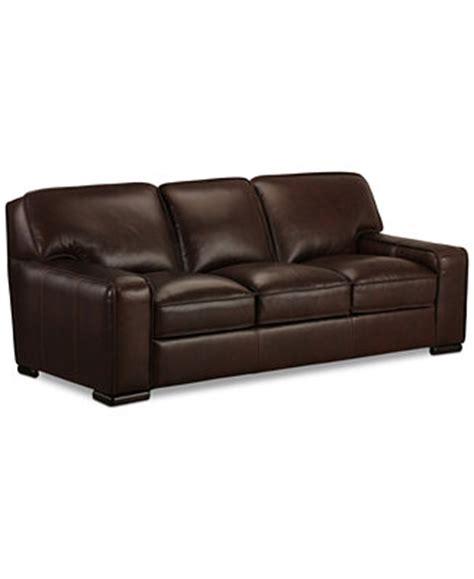 macys leather sofa kassidy leather sofa furniture macy s