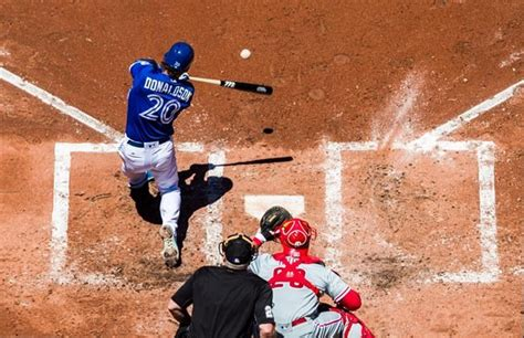 donaldson hits grand slam drives in five runs as jays