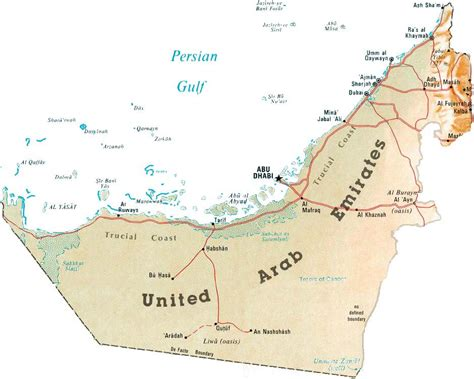 map of the united arab emirates detailed map of uae united arab emirates detailed map