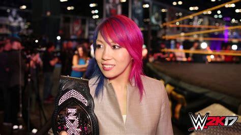 wwe youtube wwe 2k17 wrestlemania interview with asuka youtube