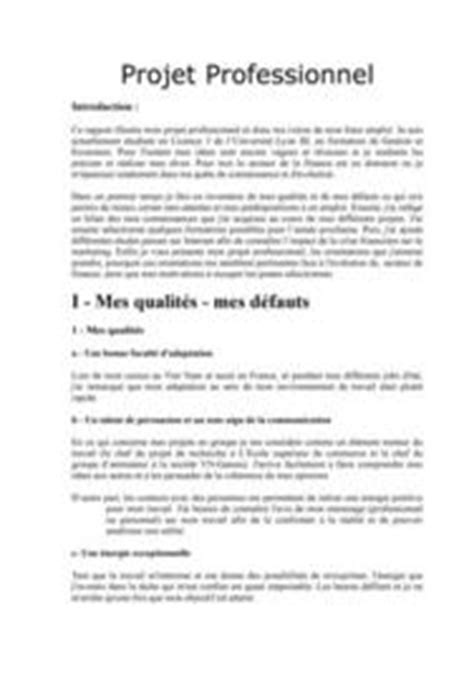 Exemple De Lettre De Présentation De Projet Exemple De Cv Projet Professionnel Sle Resume