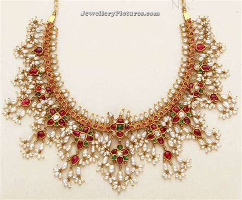 pearl necklace design pearl necklace designs in gold jewellery designs