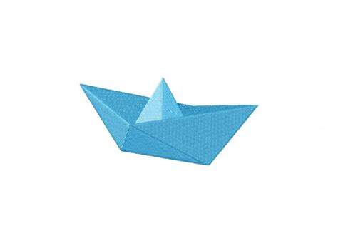 paper boat blue paper boat machine embroidery design daily embroidery