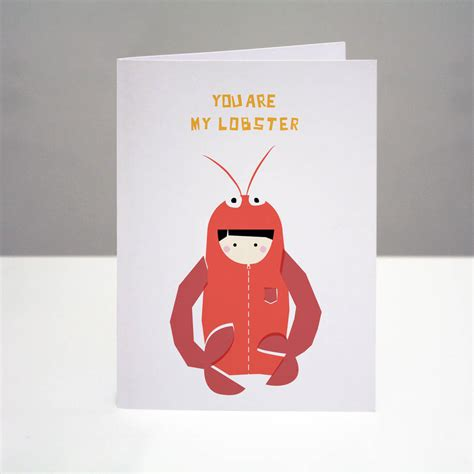 lobster valentines day you are my lobster card by one dicky bird