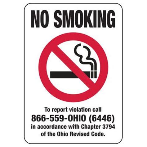 printable no smoking sign ohio ohio smoke free signs no smoking sign seton
