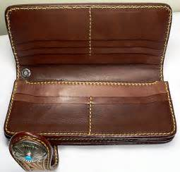 Handmade Western Leather Wallets - handmade western indian genuine cowhide leather leather