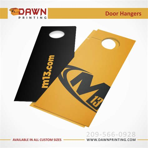 Door Hanger Printing by Custom Door Hangers Printing In Usa At Dawnprinting