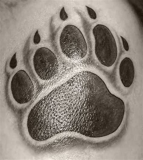 bear paw tattoo tatto paw tattoos
