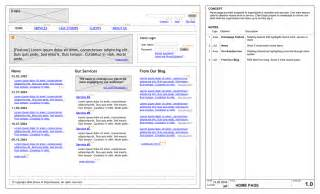 Visio Wireframe Template by Website Wireframe Diagram Website Free Engine Image For