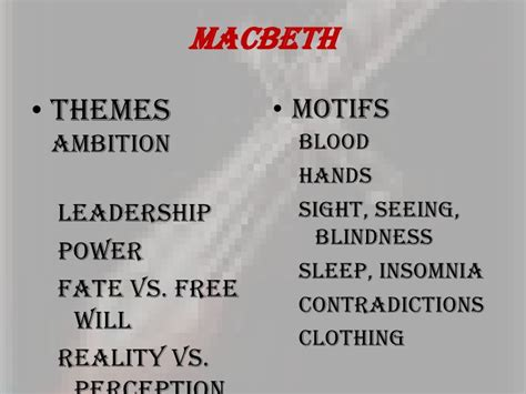 themes and techniques used in macbeth shakespeare intro