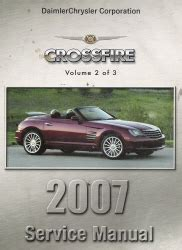 car maintenance manuals 2007 chrysler crossfire on board diagnostic system 2007 chrysler crossfire zh service manual 3 volume set