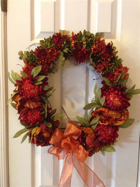How To Make A Fall Wreath For Front Door