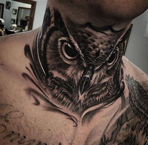 neck tattoo in southpaw guys owl neck tattoo http tattooideas247 com owl guys