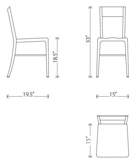 standard dining chair dimensions standard dining chair