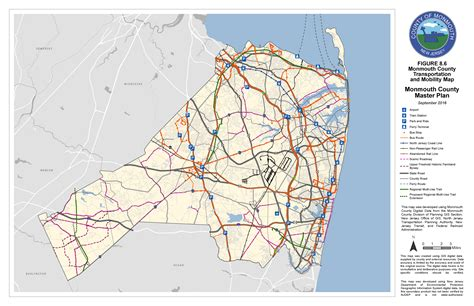 map of monmouth county new jersey planning board master plan map index