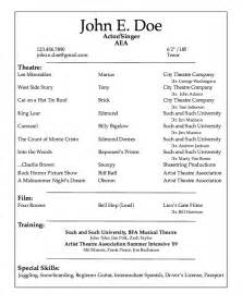professional acting resume sample resumes design