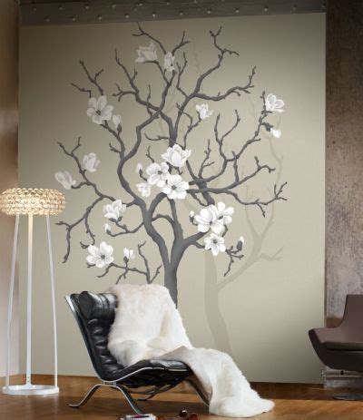tree of wall mural magnolia tree mural by mr perswall wallpaper direct