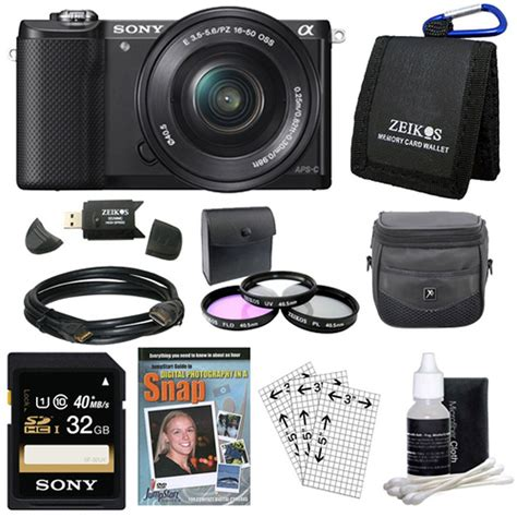 Sony A Ilce 5000l 16 50 Black sony alpha a6000 ilce 6000l b black mirrorless with