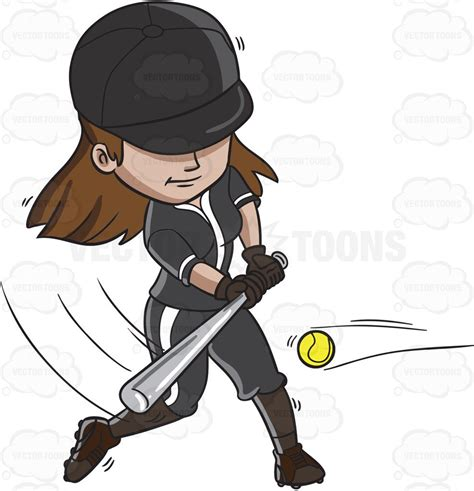 hitting a a baseball player hitting the with a bat clipart vector