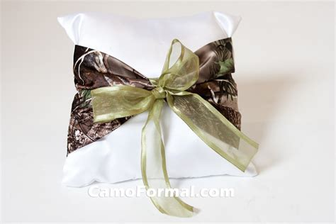 Camo Ring Bearer Pillow by Pillow Ringbearer With Camo Accent Garters And Pillows