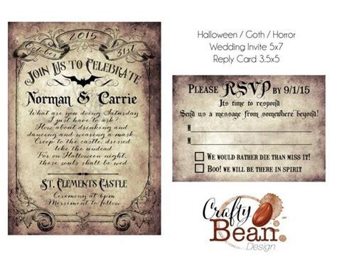 free printable victorian invitation custom vintage victorian halloween goth wedding invitation