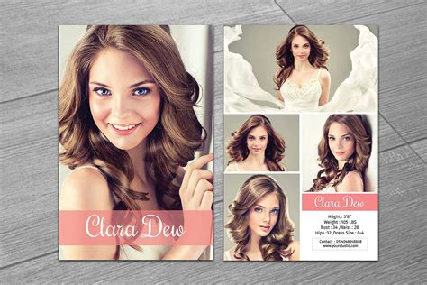 Comp Card Template Indesign by Modeling Comp Card Template V247 Flyer Templates