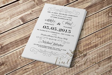 Plain Wedding Invitations