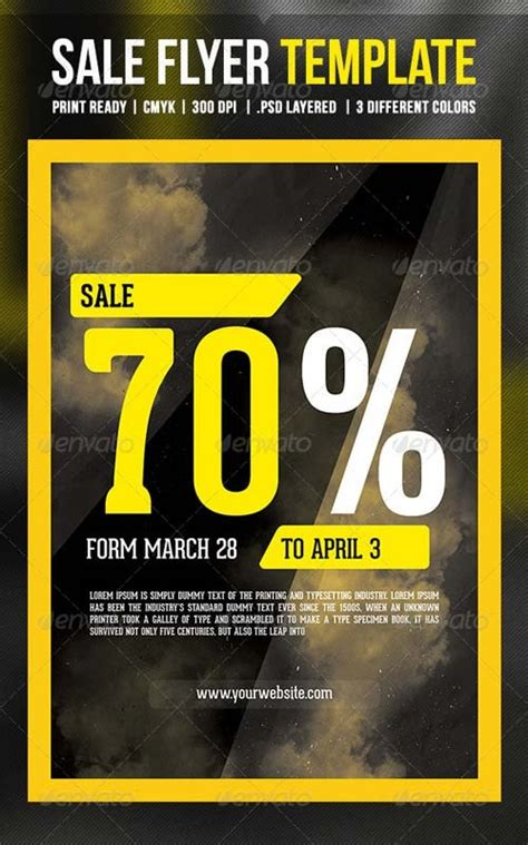 Flyer Templates Graphicriver Sale Flyer Template Graphicflux Graphicriver Flyer Template