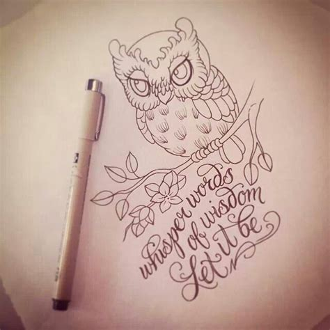 wisdom tattoo designs 25 best ideas about baby owl tattoos on owl