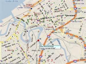 Lorain Ohio Map by Historicbridges Org Lorain Carnegie Bridge Map
