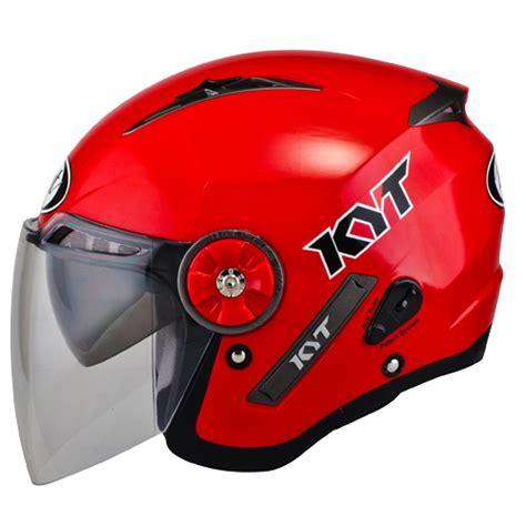 design helm half face kyt mine solid merah pabrikhelm com jual helm murah