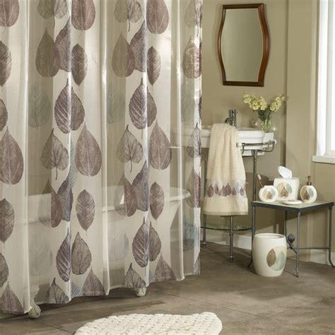 shop excell gossamer leaf shower curtain multi