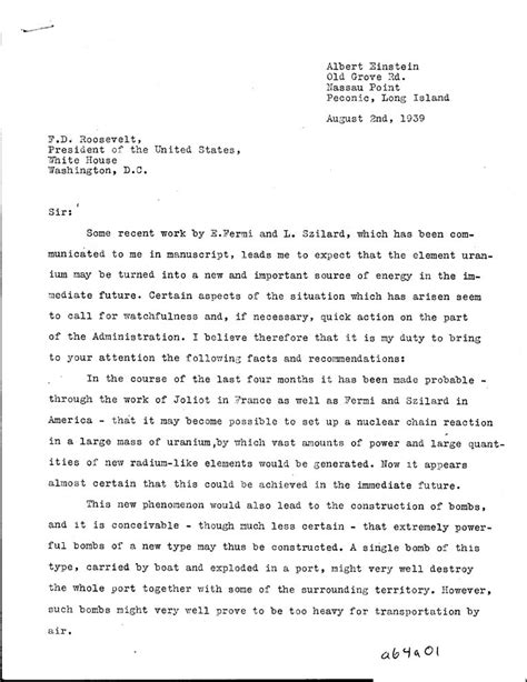 Reference Letter In Italiano lettre d einstein 224 roosevelt
