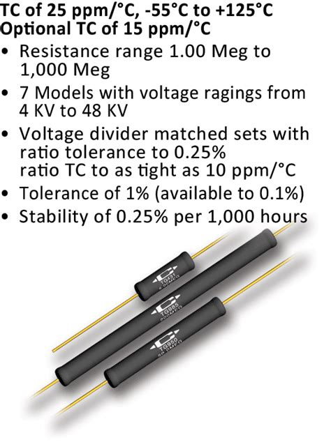 precision high voltage resistors caddock s precision high voltage resistors