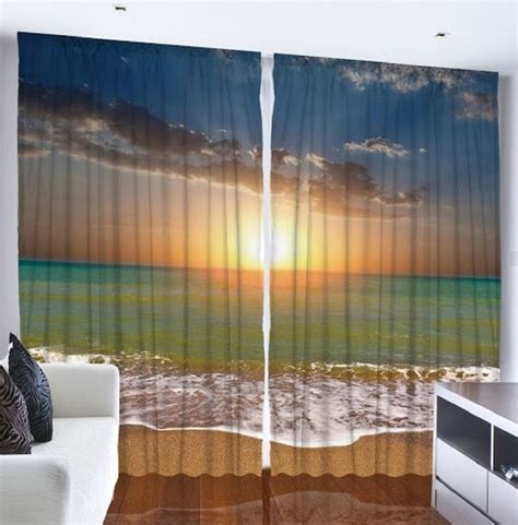 Kitchen Amusing Beach Themed Kitchen Curtains Beachy