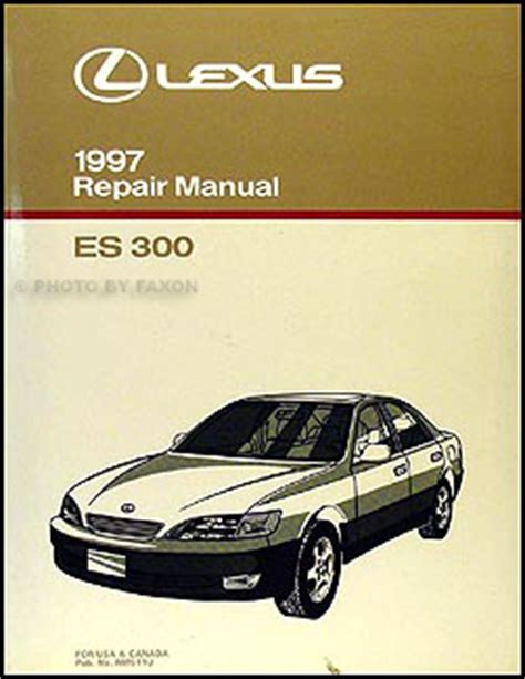 free car repair manuals 1995 lexus es auto manual 28 1997 lexus es 300 factory service manual 8743 1995 lexus es 300 wiring diagram manual