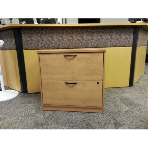 sugar maple wood 2 drawer lateral file cabinet locking