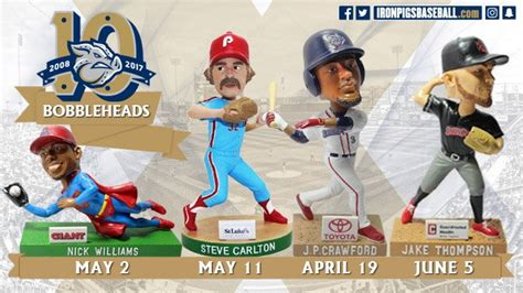Ironpigs Giveaways - iron pigs 2017 bobbleheads stadium giveaway exchange