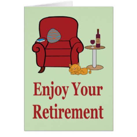 Armchair Travel Enjoy Your Retirement Cards Zazzle