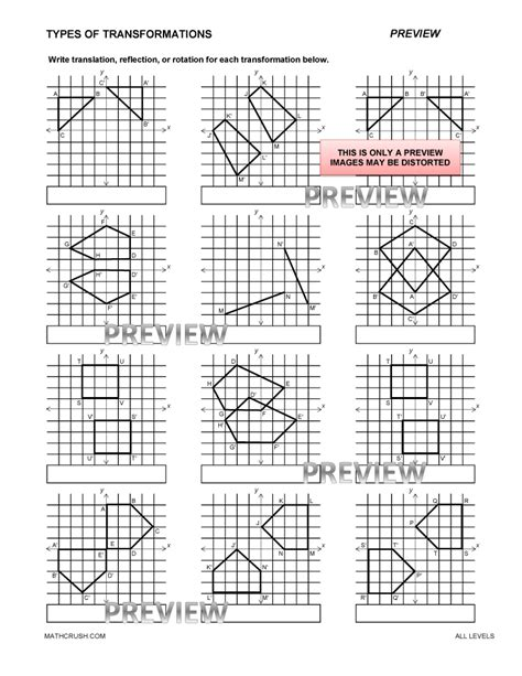 Identify The Transformation Worksheet by Geometry Worksheets And Help Pages By Math Crush