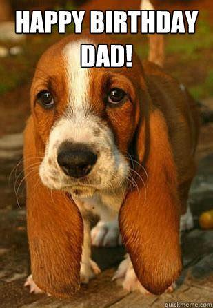 Dad Birthday Meme - happy birthday dad unemployable basset hound puppy