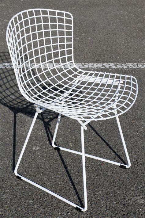 chaise wire blanche bertoia edition knoll d occasion