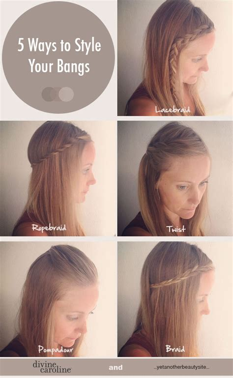 easy hairstyles for school with fringes 5 quick and easy ways to style your bangs bangs easy