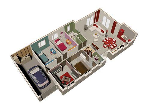 Sweet Home 3d Comment Un ôæá ôω Tage Exemple De Plan De En 3d Gratuit Maison Moderne