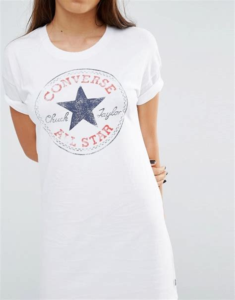 Playstation Classic Logo T Shirt White M Size buy converse white classic logo t shirt dress in white converse dresses x49w8565