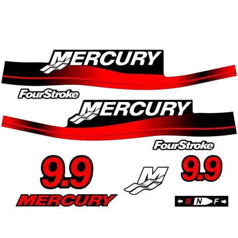 mercury outboard motor graphics mercury outboard decal set 9 9hp ebay
