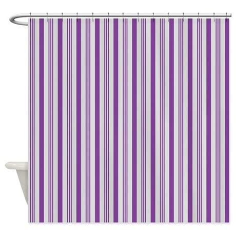 grey and purple shower curtain purple and grey stripes pattern shower curtain by