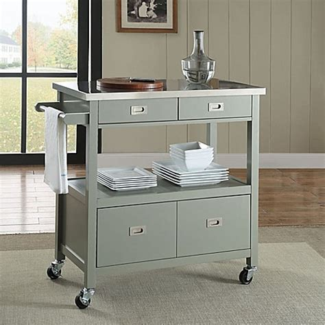kitchen island sydney sydney kitchen cart in grey bed bath beyond